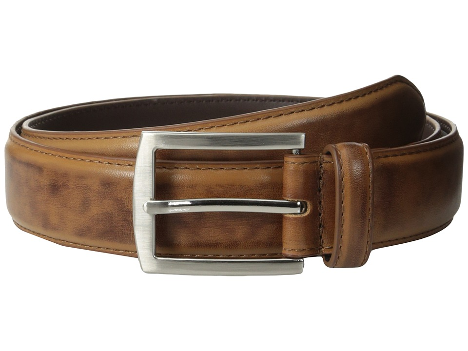 Stacy Adams - 32mm Full Grain Leather Top w/ Leather Lining Dress Belt (Saddle Tan) Men's Belts
