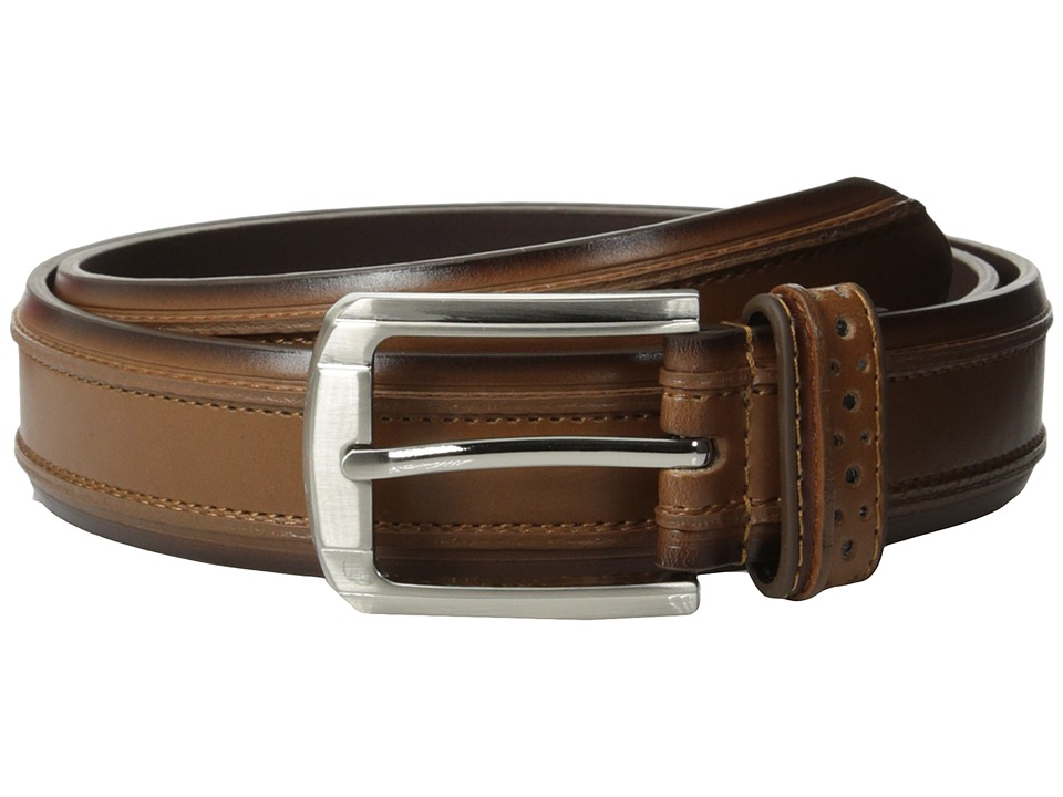 Stacy Adams - 32mm Genuine Leather Casual Belt w/ Raised Inner Edge (Saddle Tan) Men's Belts