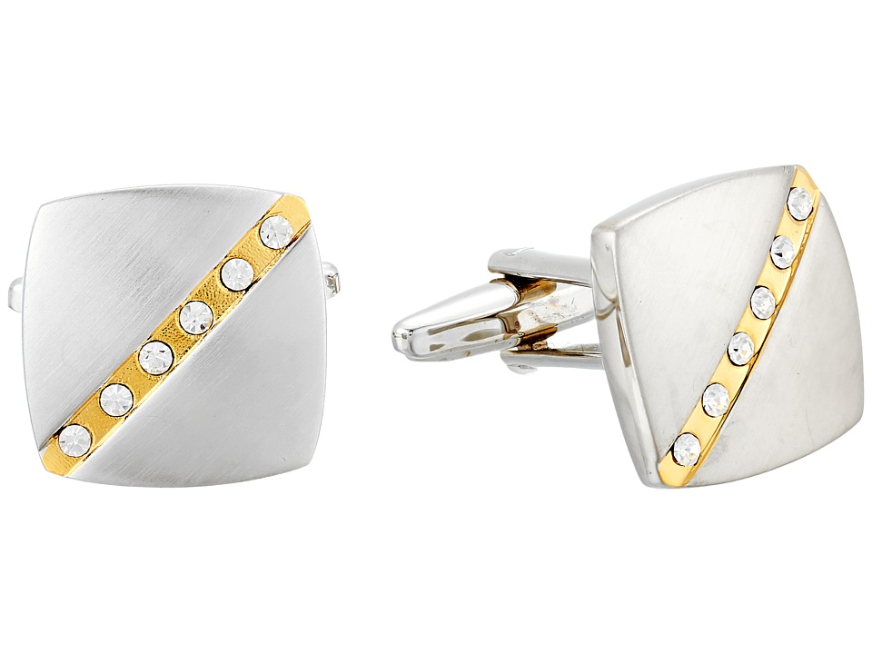 Stacy Adams - Square Cuff Link (Silver/Gold) Cuff Links
