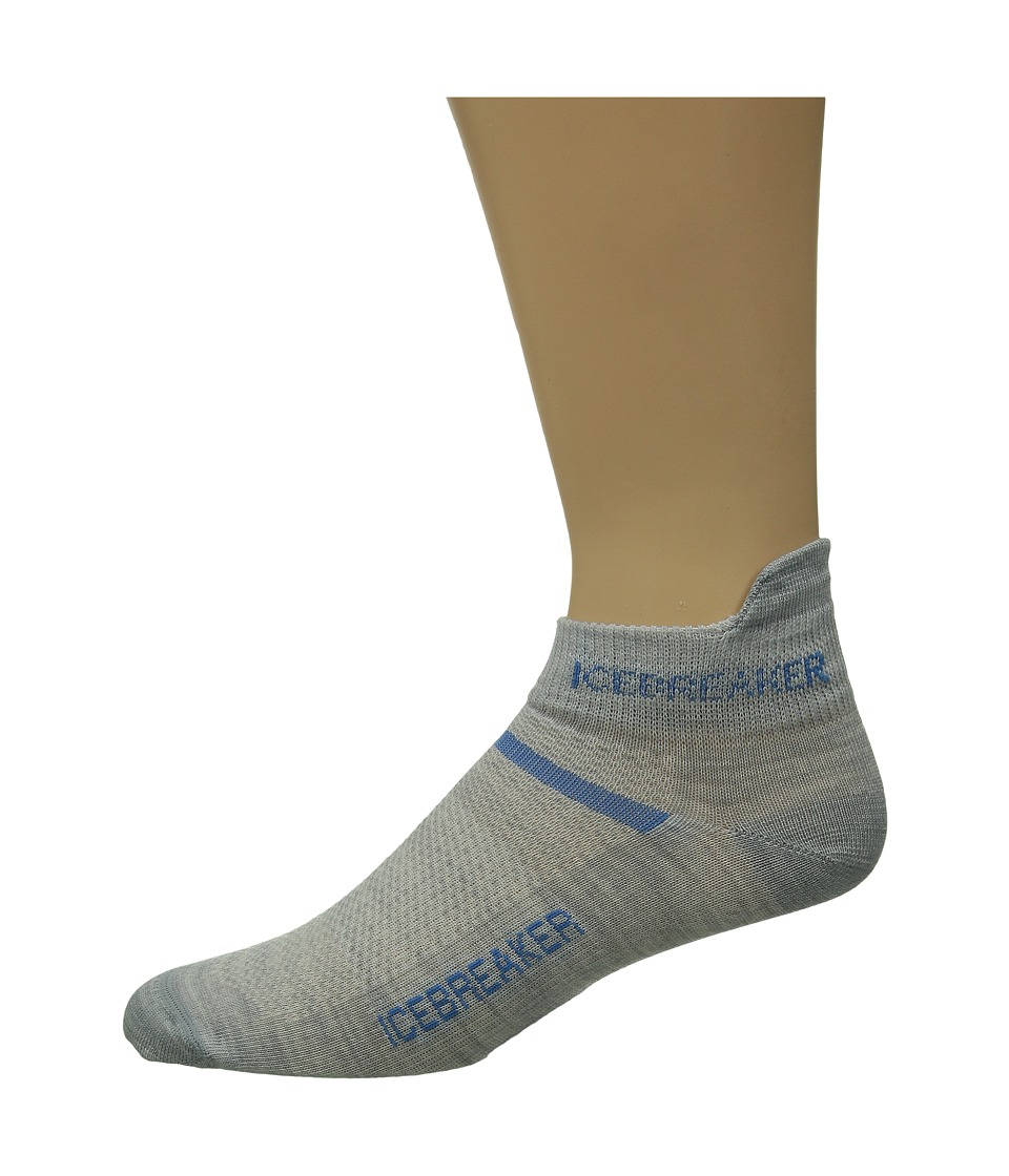 Icebreaker - Multisport Ultra Light Micro 1-Pair Pack (Blizzard Heather/Force) Men's No Show Socks Shoes