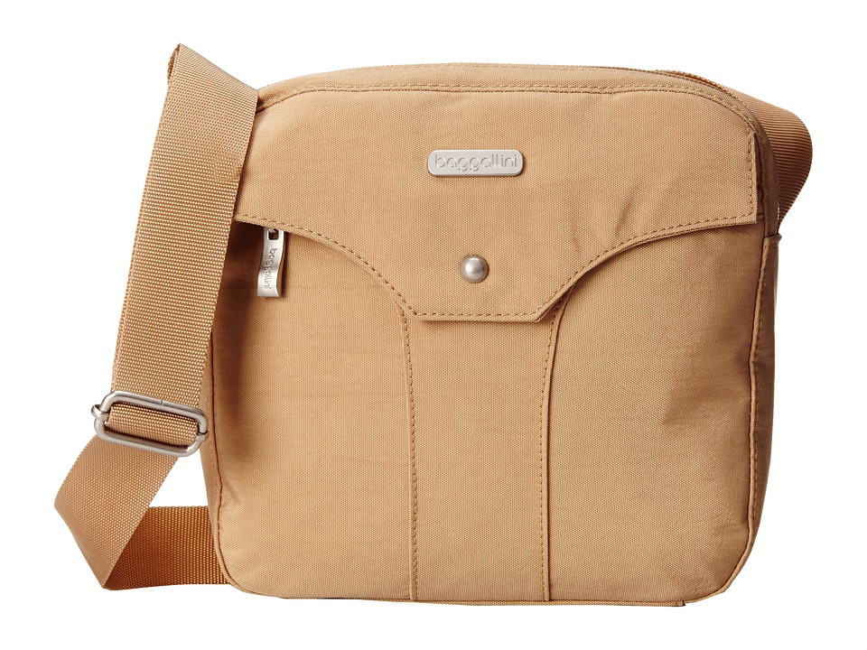 Baggallini - Highrise Crossbody (Sand) Cross Body Handbags