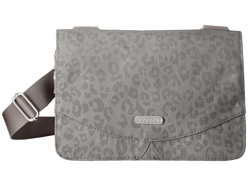 Baggallini - Venture Crossbody (Pewter/Cheetah Embossed) Cross Body Handbags