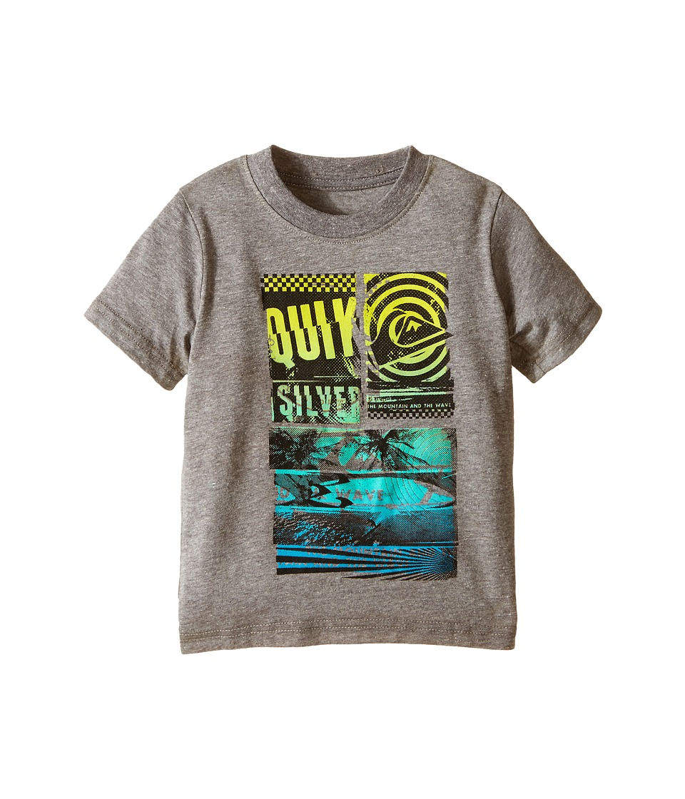 Quiksilver Kids - Rise and Shine T-Shirt (Toddler) (Medium Grey Heather) Boy's T Shirt