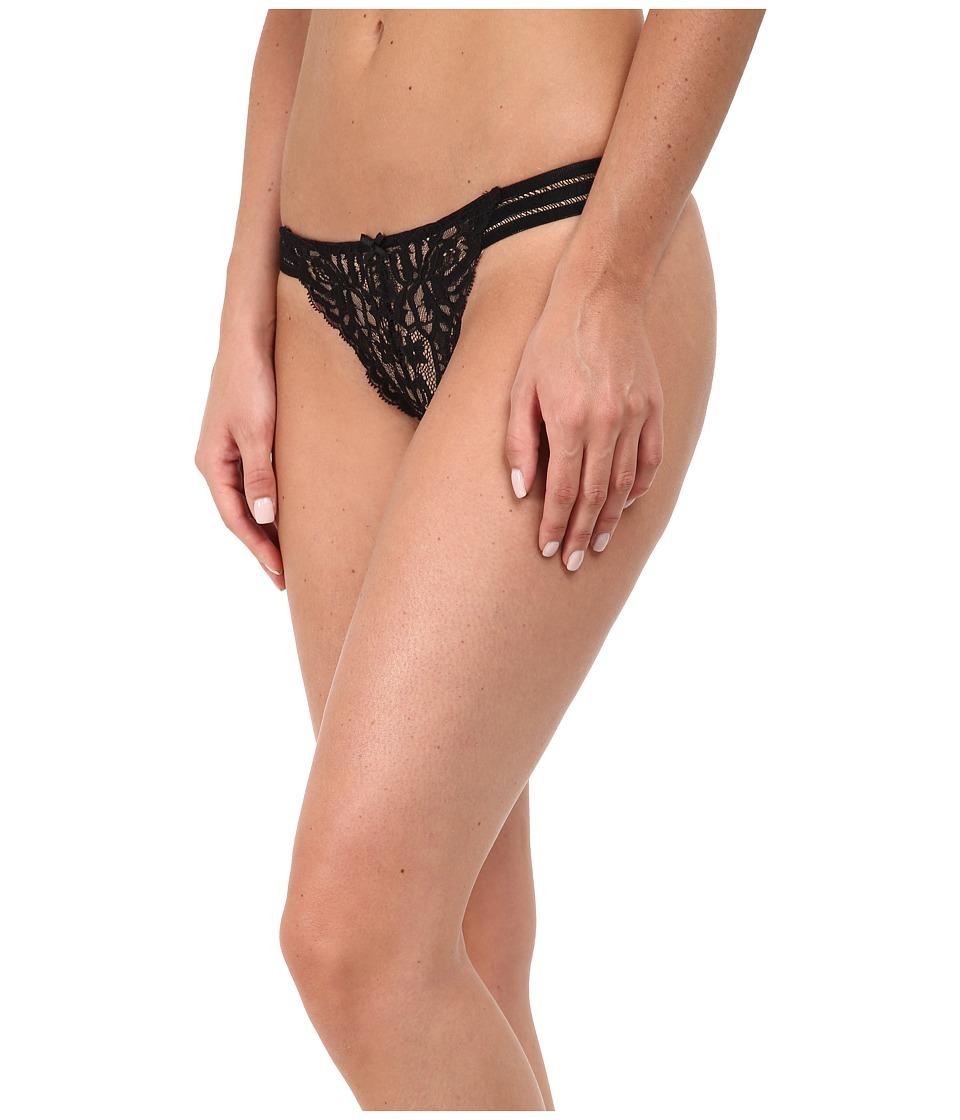 Stella McCartney - Isabel Floating Thong (Black) Women's Underwear