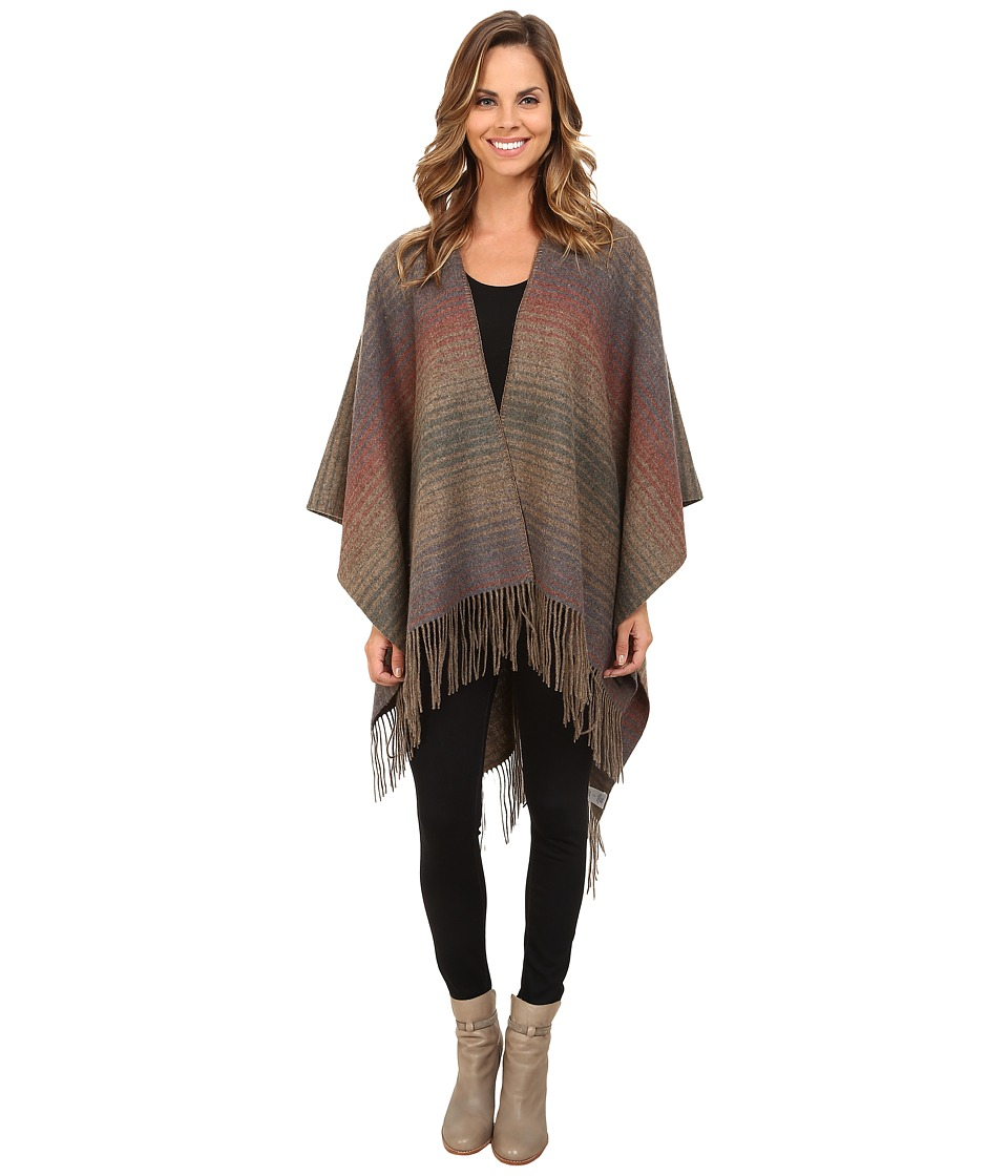 Pendleton - Woven Blanket Shawl (Yakima Camp Stripe) Women's Sweater