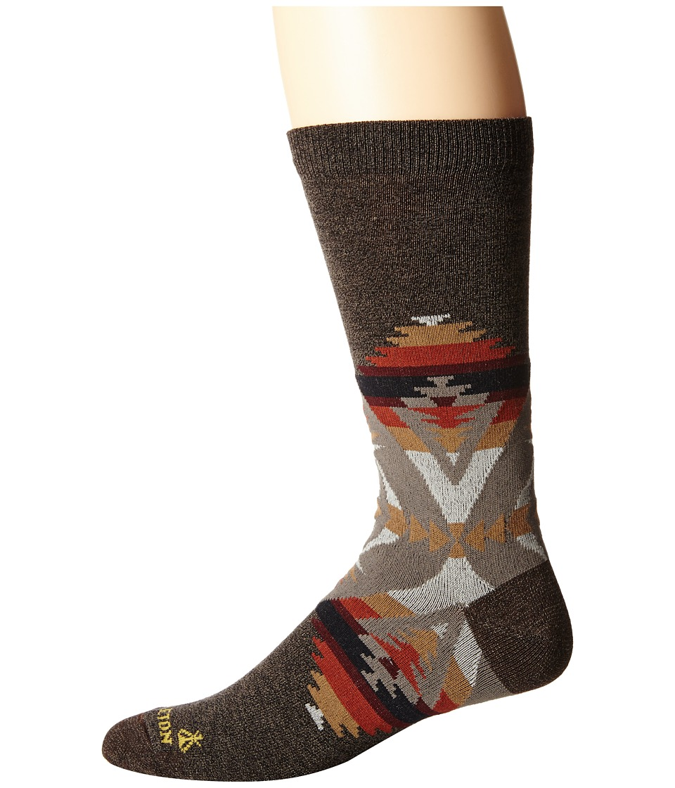 Pendleton - Pacific Crest Crew (Brown Heather) Crew Cut Socks Shoes