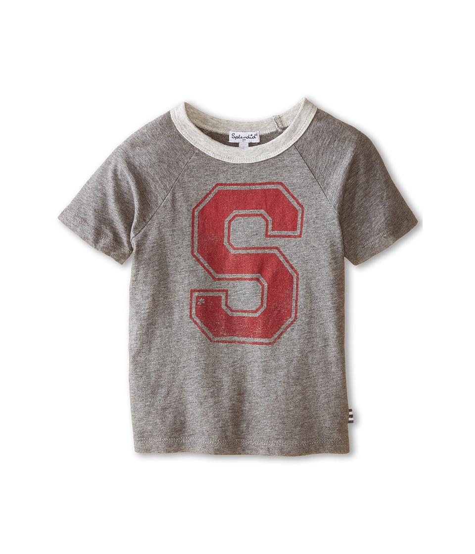 Splendid Littles - Short Sleeve Graphic Tee (Toddler) (Charcoal) Boy
