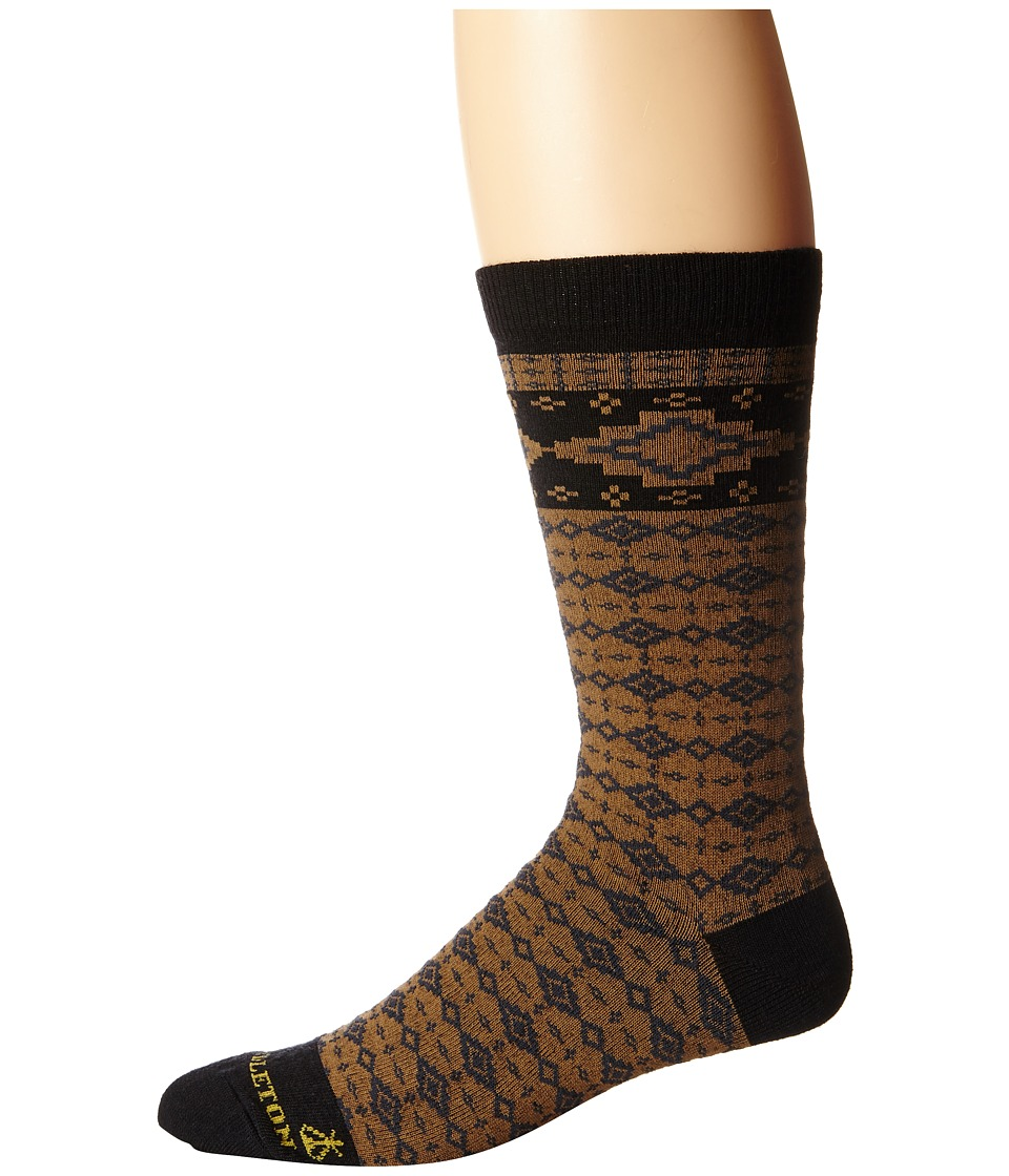 Pendleton - Fair Isle Crew (Black) Crew Cut Socks Shoes