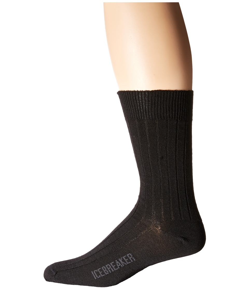 Icebreaker - Lifestyle Ultra Light Crew Trojan 1-Pair Pack (Black) Men's Crew Cut Socks Shoes