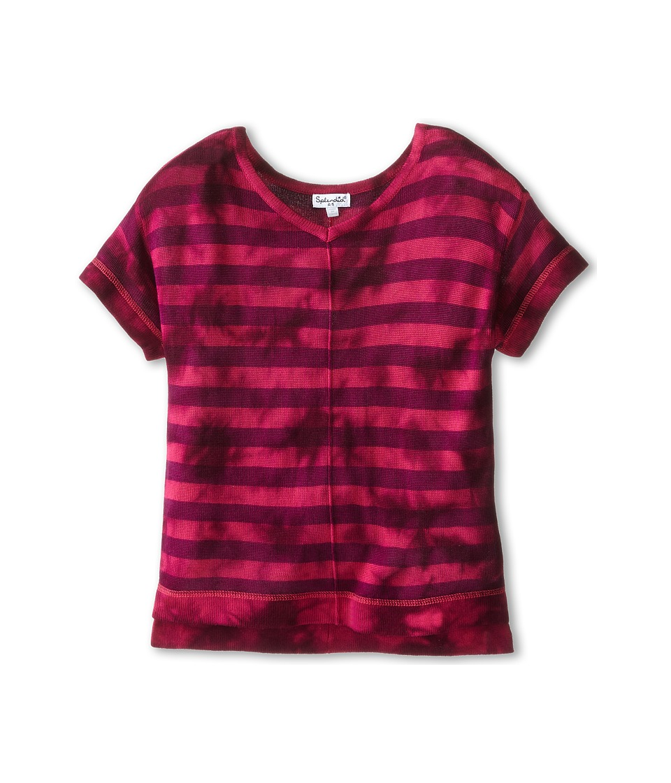 Splendid Littles - Tie-Dyed Loose Knit Top (Little Kids) (Hot Pink) Girl