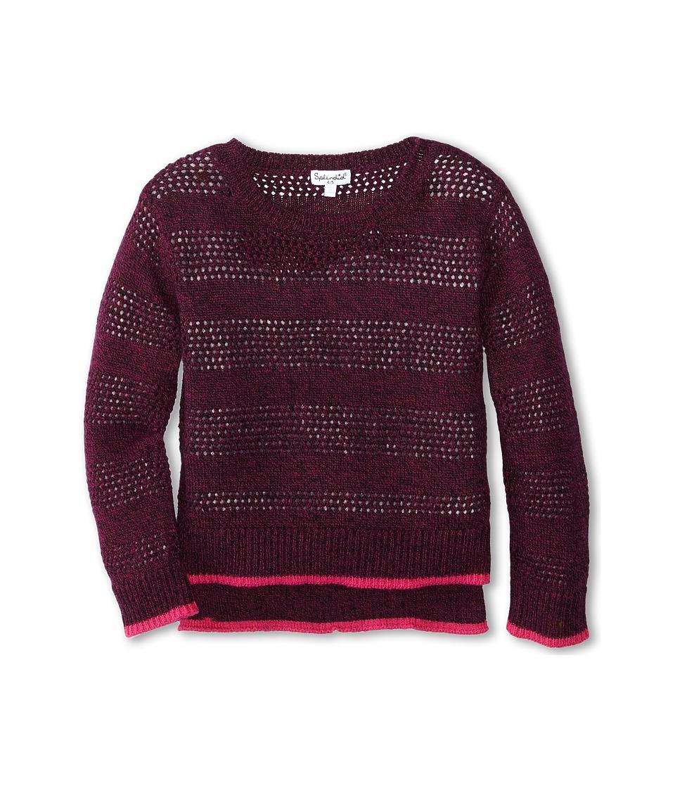 Splendid Littles - Full Fashion Marled Sweater (Little Kids) (Plum) Girl's Sweater