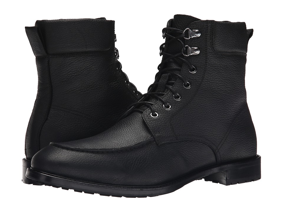 Gordon Rush - Owen (Black Pebble Grain) Men's Lace-up Boots