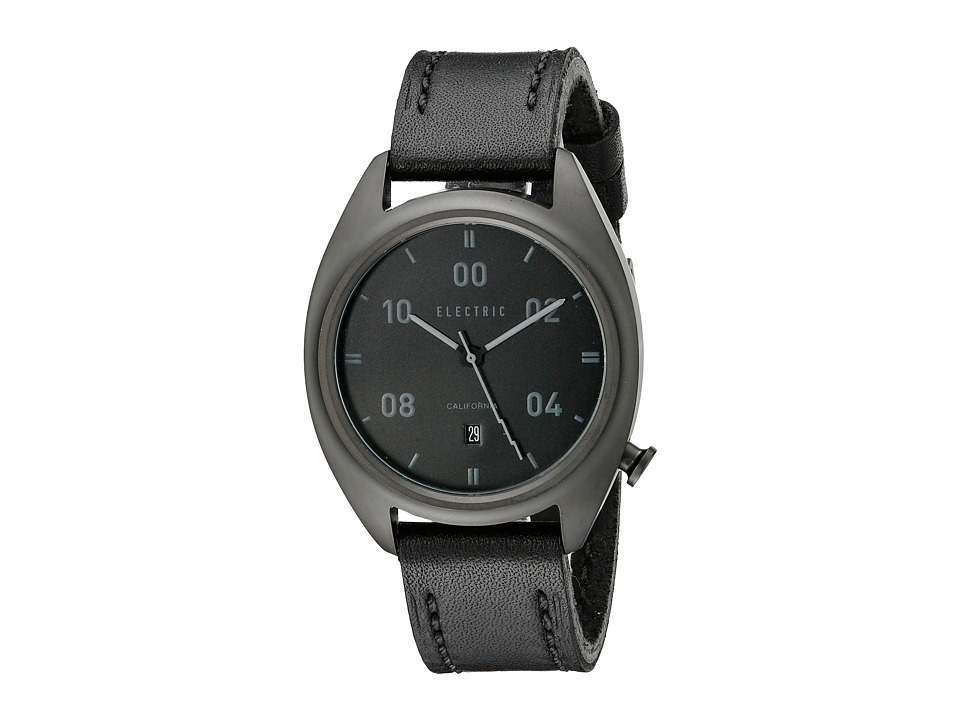 Electric Eyewear - OW01 Leather (All Black) Analog Watches