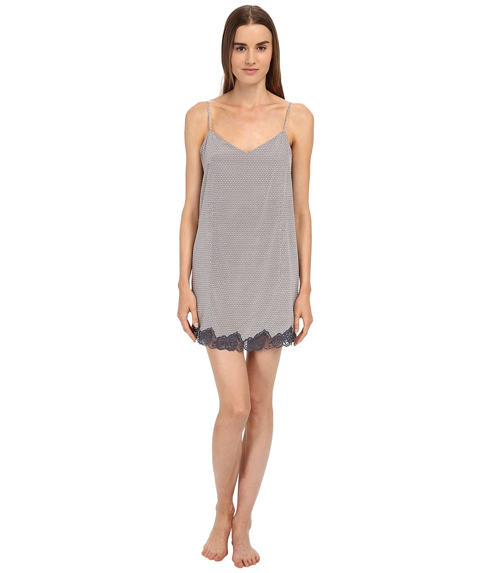 Stella McCartney - Ellie Leaping Slip Chemise (Dove Grey Dotty Print) Women