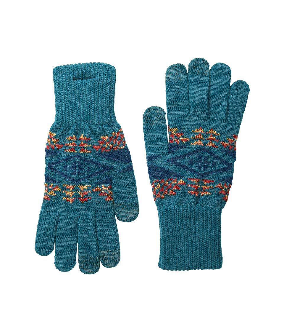 Pendleton - Texting Glove (Diamond River Turquoise) Extreme Cold Weather Gloves