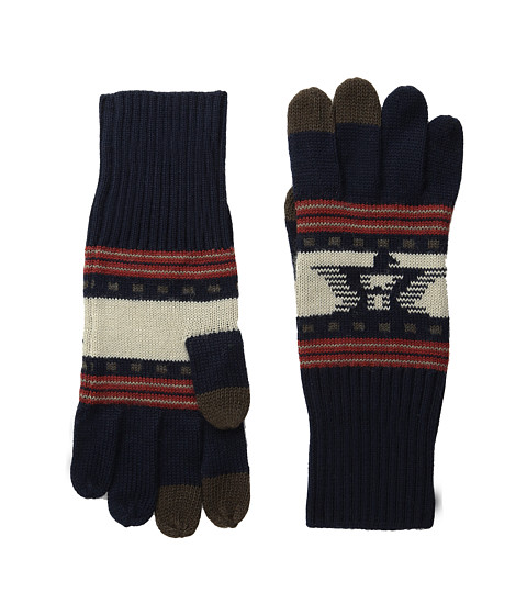 Pendleton - Jacquard Knit Gloves (Thunderbird Navy) Wool Gloves