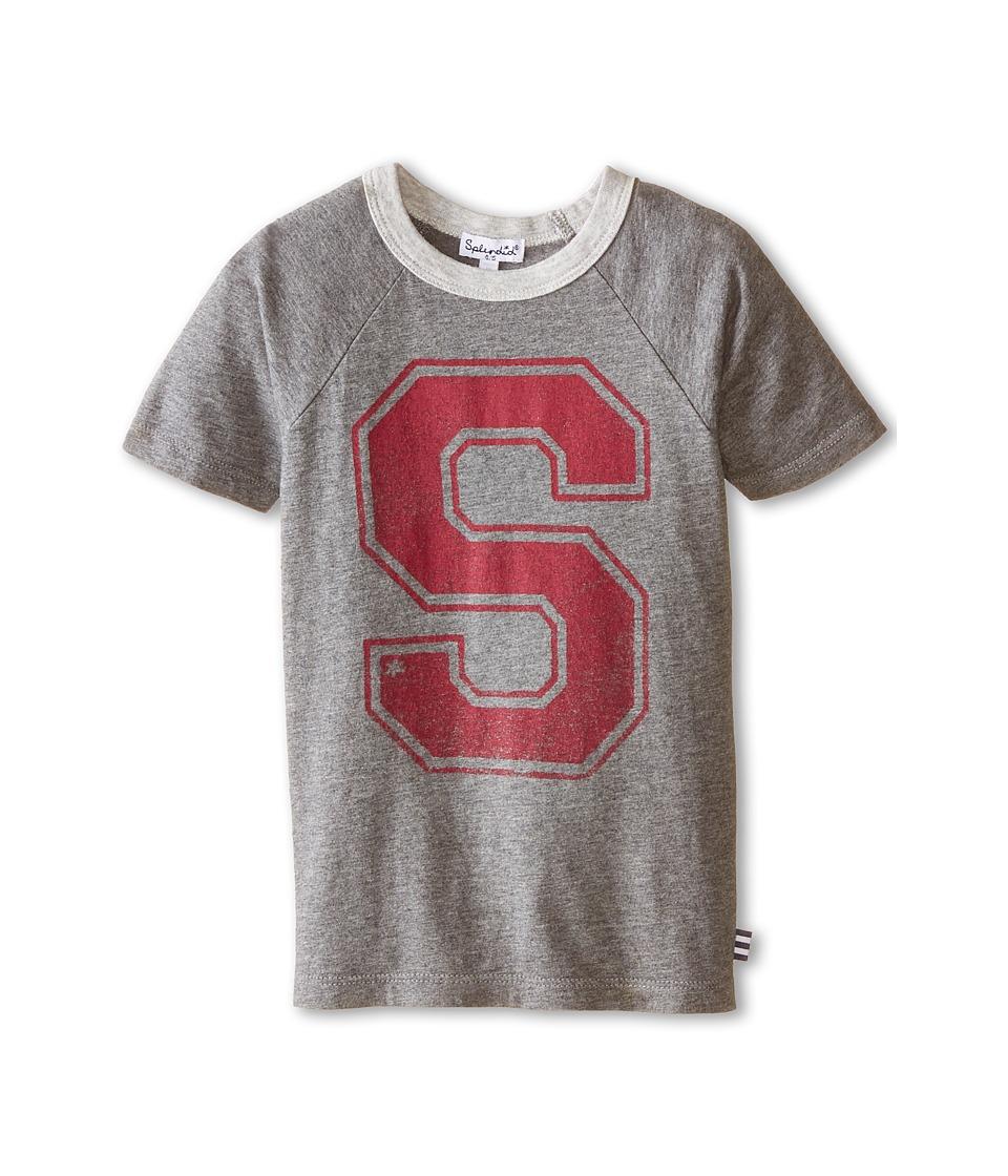 Splendid Littles - Short Sleeve Graphic Tee (Little Kids) (Charcoal) Boy's T Shirt