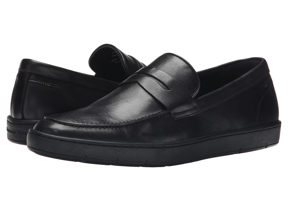 Gordon Rush - Ashby (Black Leather) Men's Slip on Shoes