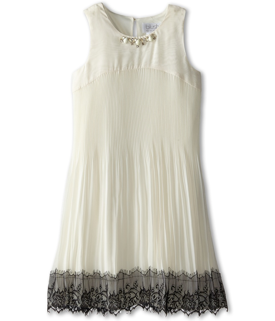 Us Angels - Sleeveless Empire w/ Pleated Skirt Lace (Big Kids) (Cr me) Girl's Dress