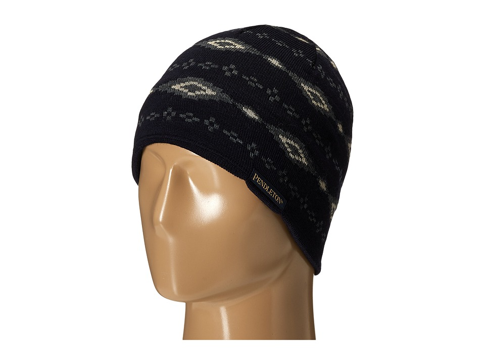 Pendleton - Knit Watch Cap (Fair Isle Navy) Caps