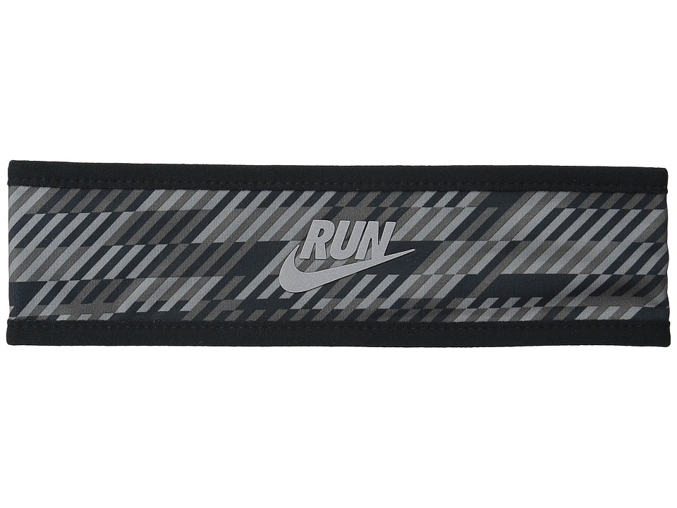 Nike - Run Hazard Headband (Black/Dark Grey/Reflective Silver) Headband