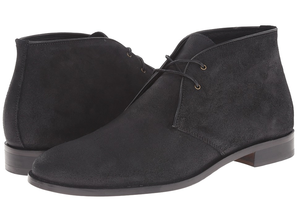 RUSH by Gordon Rush Tinsman (Black Waxy Suede) Men