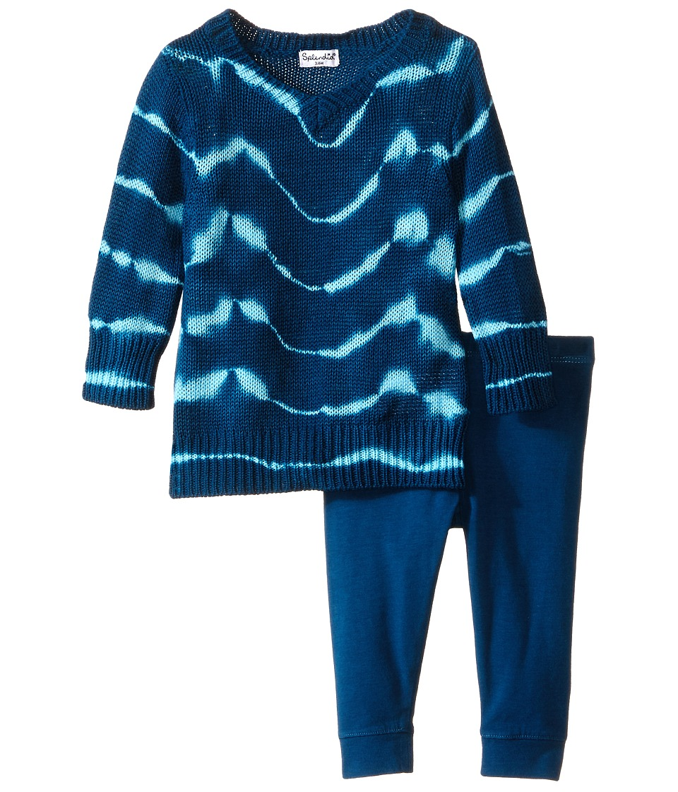 Splendid Littles - Full Fashion Sweater Pants Set (Infant) (Teal) Girl's Active Sets