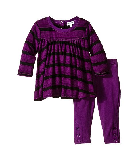 Splendid Littles - Fashion Stripe Pants Set (Infant) (Violet) Girl's Active Sets