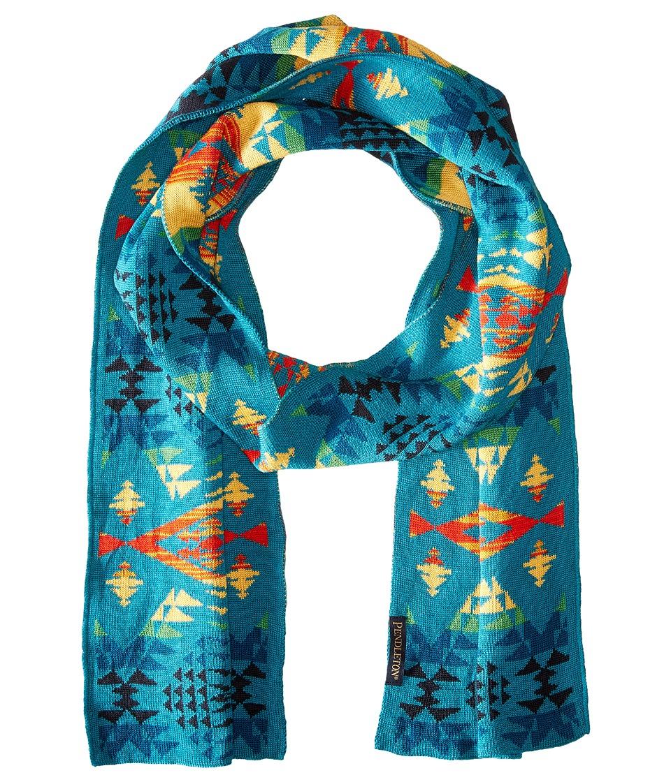 Pendleton - Knit Muffler (Diamond River Turquoise) Scarves