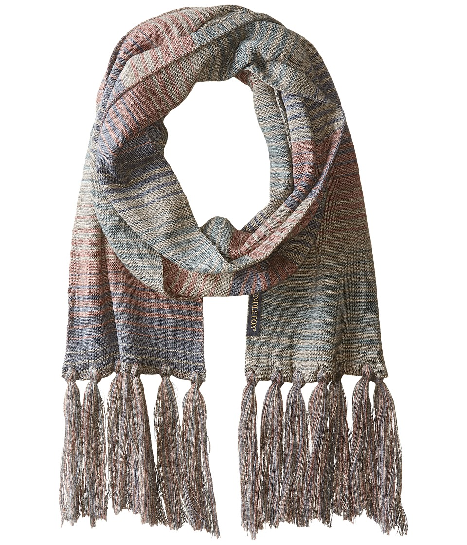 Pendleton - Long Fringe Scarf (Yakima Camp Stripe) Scarves