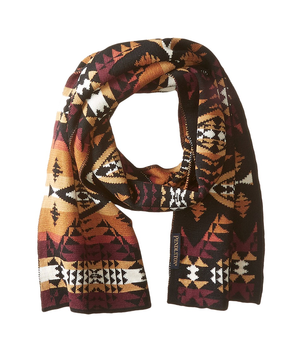 Pendleton - Knit Muffler (Diamond River Black) Scarves