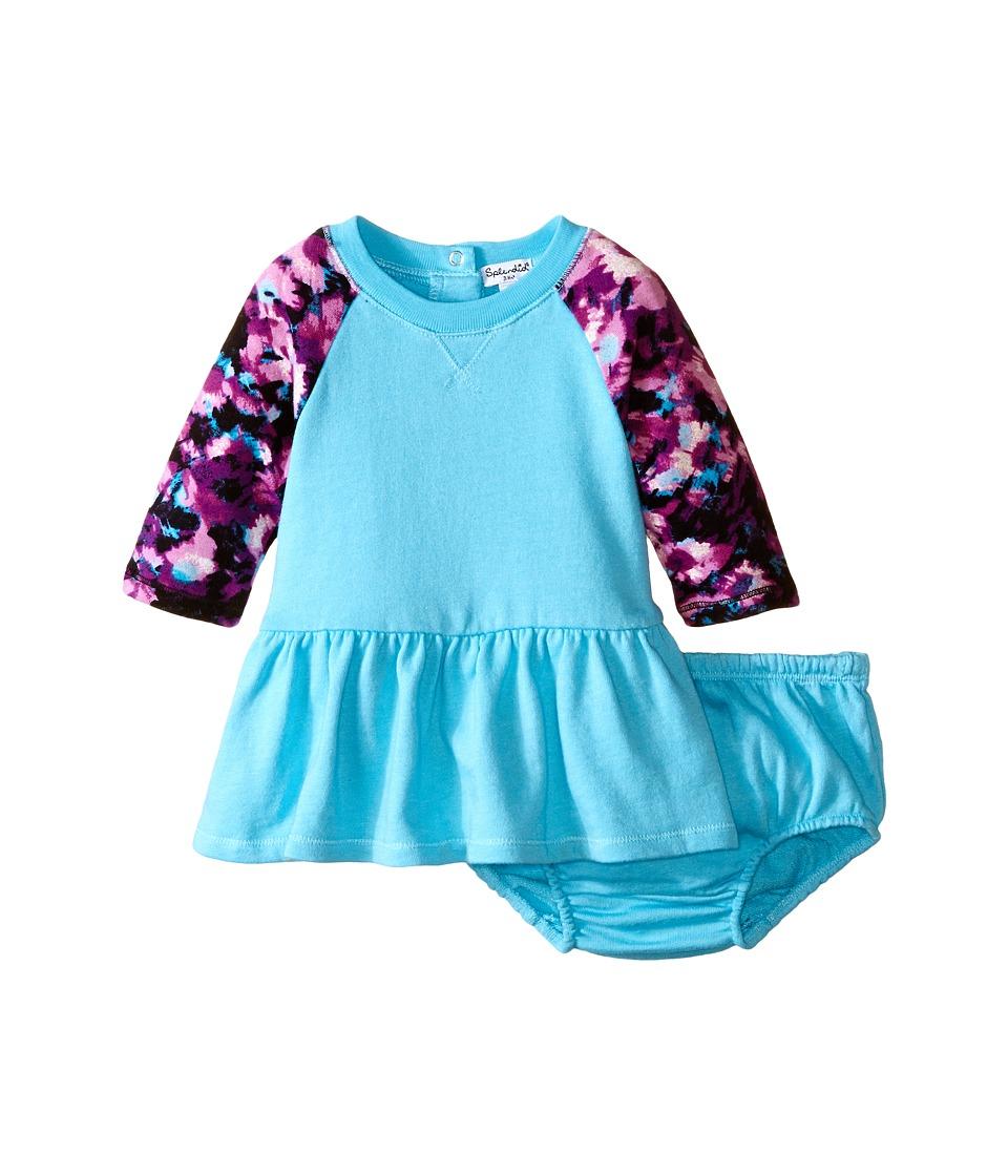 Splendid Littles - Abstract Floral Dress (Infant) (Aqua) Girl's Dress