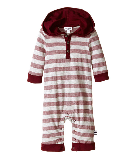 Splendid Littles - Classic Stripe Coverall (Infant) (Burgundy) Boy