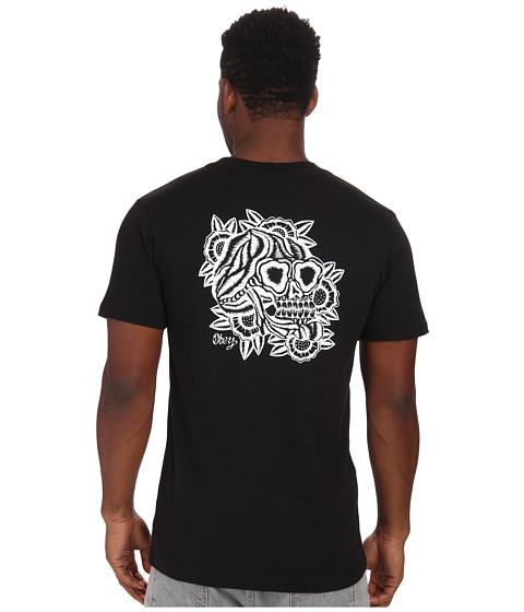Obey - Aloha Skull Tee (Black) Men's T Shirt