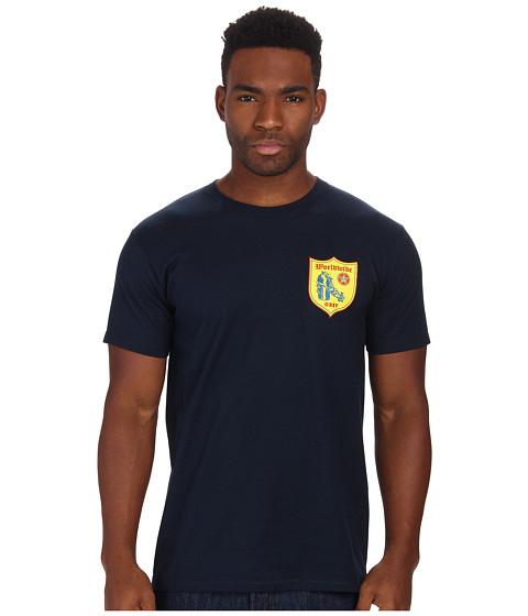 Obey - Vandal Shield Tee (Navy) Men's T Shirt