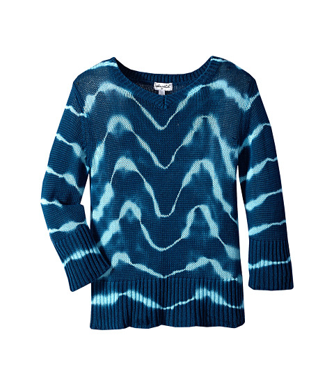 Splendid Littles - Tie-Dyed Tunic Sweater (Toddler) (Teal) Girl's Sweater