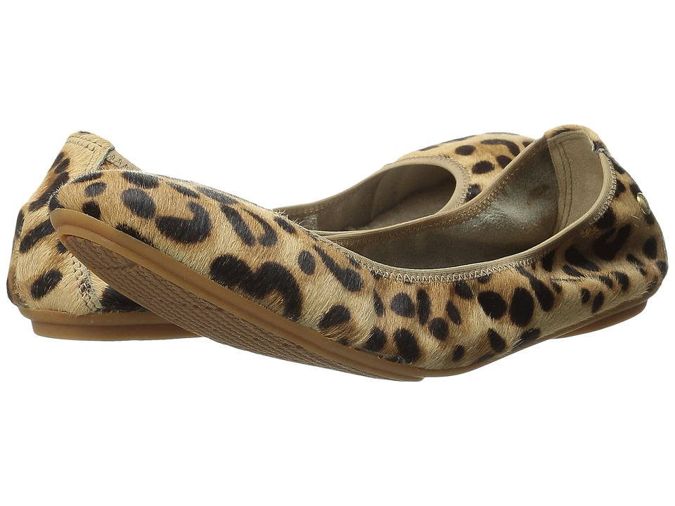 Hush Puppies - Chaste Ballet (Leopard Haircalf) Women's Flat Shoes