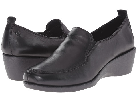 Hush Puppies - Vanna Cleary (Black Leather) Women's Shoes