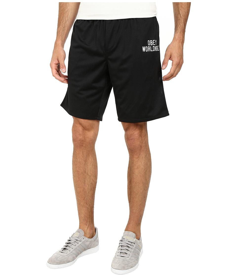 Obey - Court Shorts (Black) Men