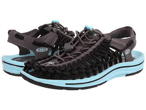 Keen - Uneek (Magnet/Black/Neon Capri) Women's Toe Open Shoes
