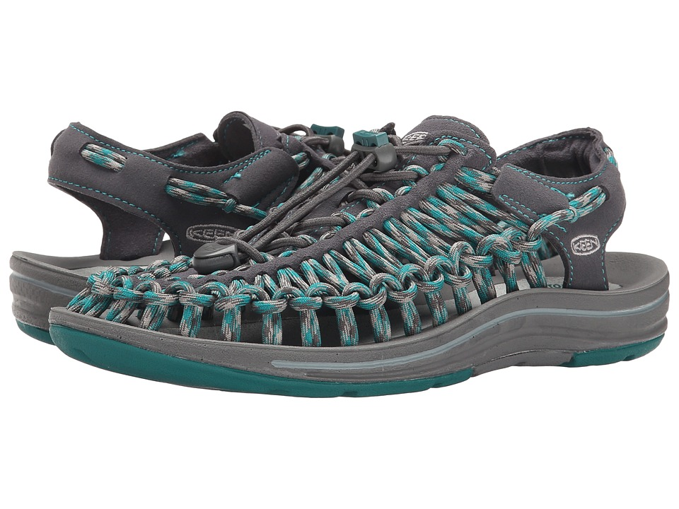 Keen - Uneek (Gargoyle/Everglade) Women's Toe Open Shoes
