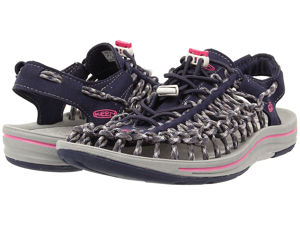 Keen - Uneek (Dress Blues/Very Berry) Women's Toe Open Shoes
