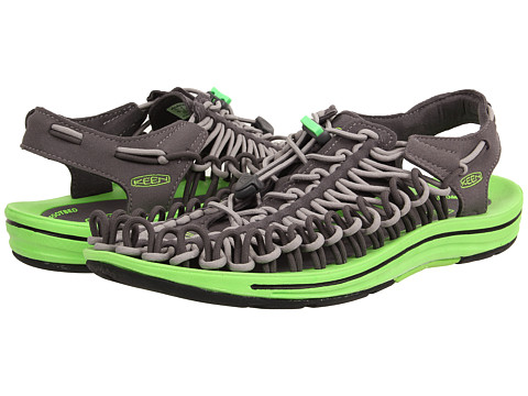 Keen - Uneek (Magnet/Neon Green) Men's Shoes