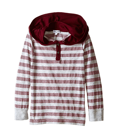 Splendid Littles - Long Sleeve Classic Stripe Top (Little Kids) (Burgundy) Boy