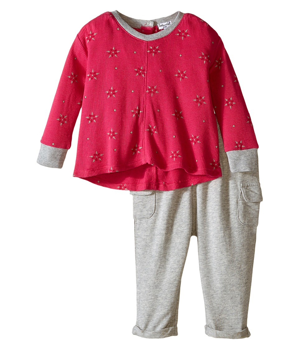 Splendid Littles - Printed Thermal Pants Set (Infant) (Pink) Girl's Active Sets