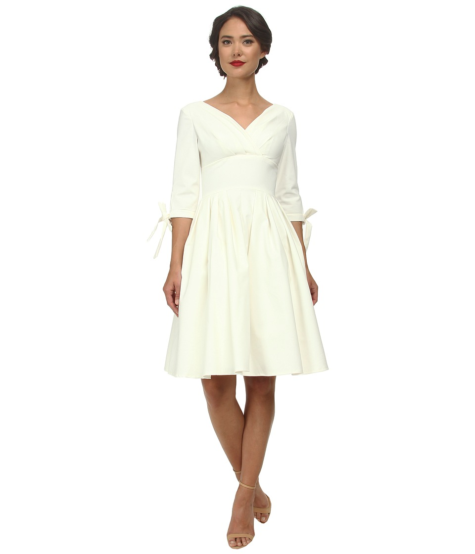 Unique Vintage - Diana Swing Dress (Ivory) Women's Dress