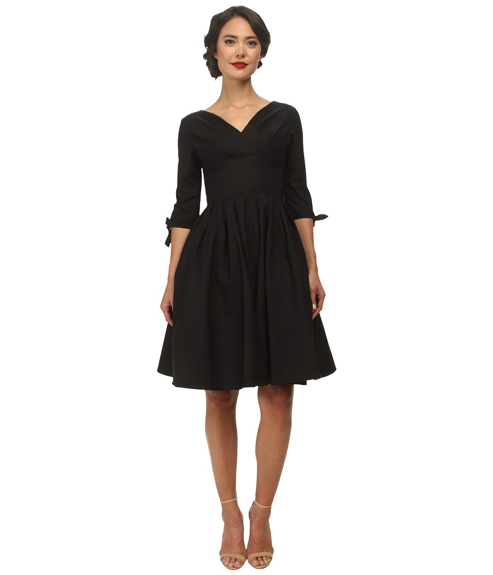 Unique Vintage - Diana Swing Dress (Black) Women's Dress