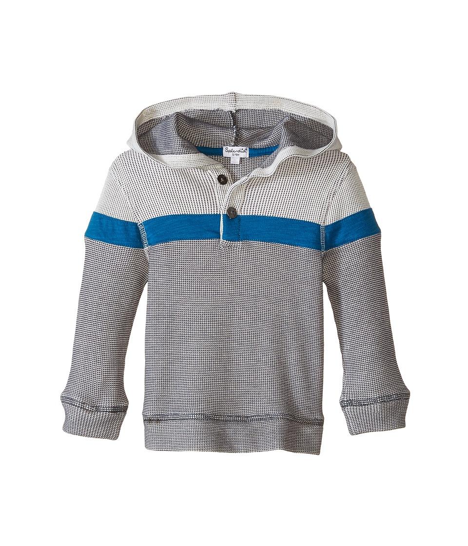 Splendid Littles - Long Sleeve Thermal Hoodie Top (Infant) (Off White) Boy's Sweatshirt
