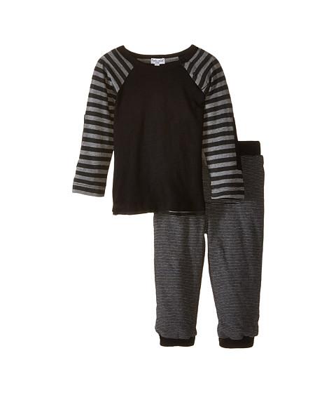 Splendid Littles - Long Sleeve Knit Top Pants Set (Infant) (Black) Boy