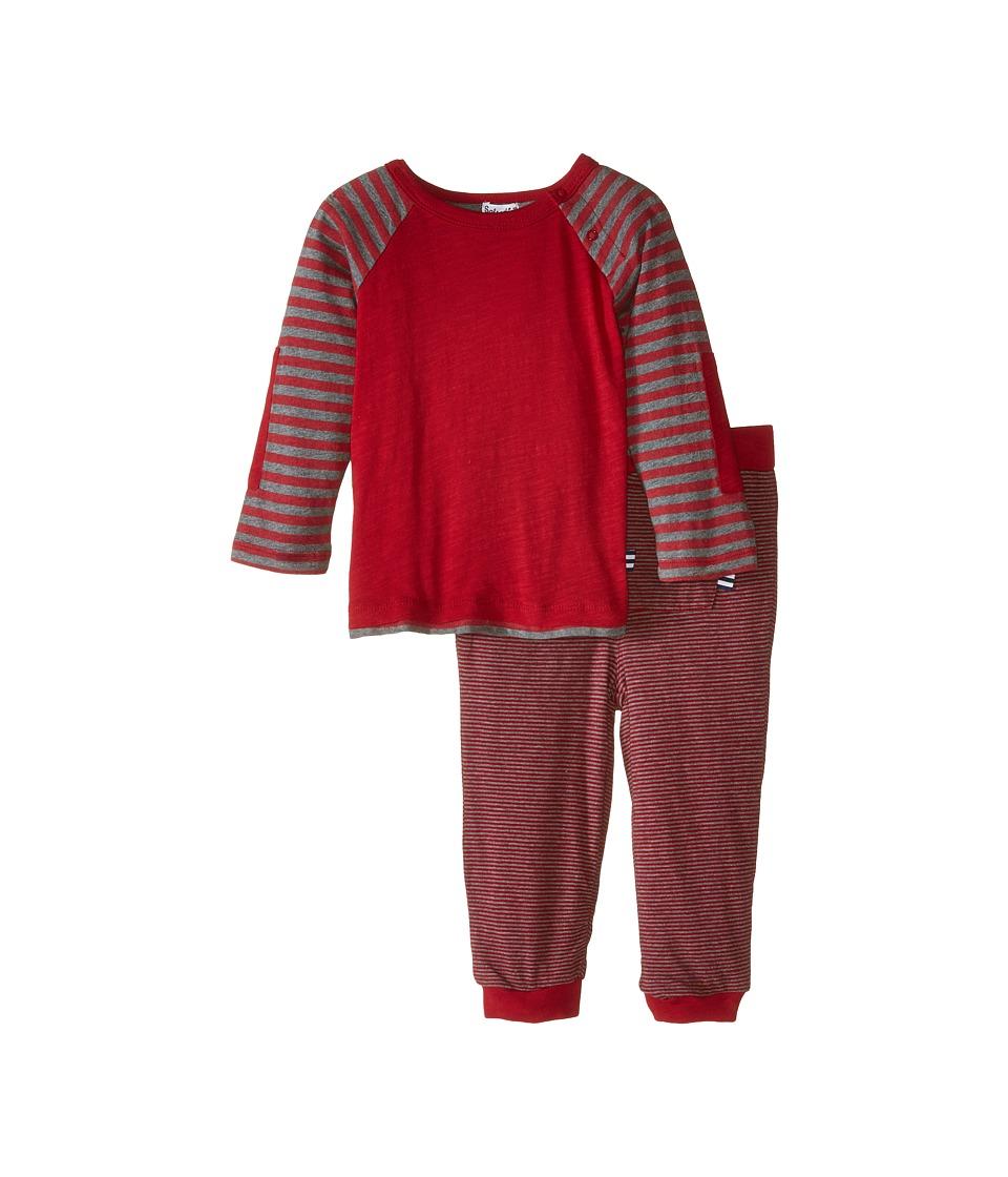Splendid Littles - Long Sleeve Knit Top Pants Set (Infant) (Red) Boy's Active Sets